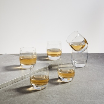 OCEAN Lucaris Round Rock Glass-Set Of 6 Pcs.