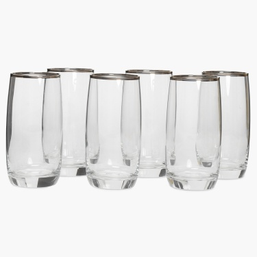 OCEAN Curved Glass- Set Of 6