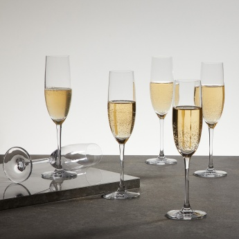 OCEAN Lucaris Round Champagne Glass-Set Of 6 Pcs.