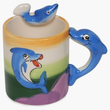 Tom Dolomite Dolphine Mug- 350 ml.