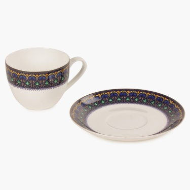 Sapphire Cup And Saucer Set- 8 Pcs.