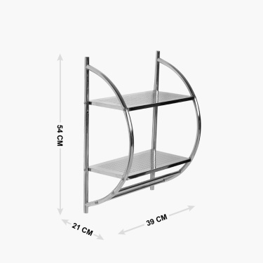 Hudson Two-Tier Wall Shelf And Towel Rack