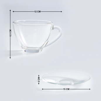 OCEAN Round Cup and Saucer-Set Of 12 Pcs.
