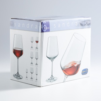 BOHEMIA CRYSTAL Sandra Round Wine Glass-Set Of 6 Pcs.