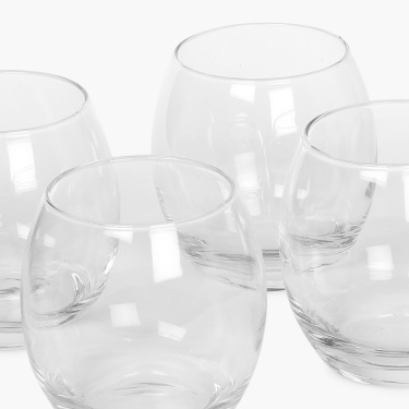 Abigail Whiskey Glass Set- 4 Pcs.