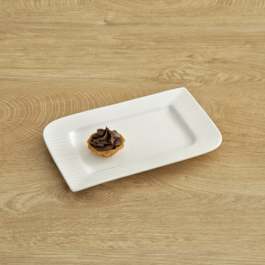 Alamode Bone China Rectangular Plate - 8.5 x 5.25 Inch