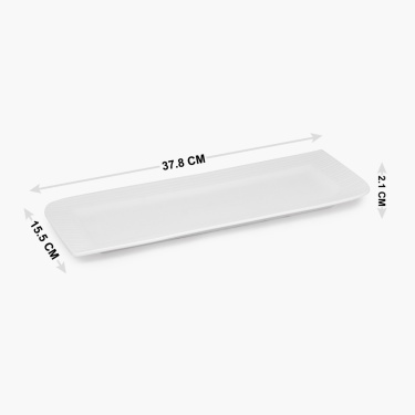 Alamode Bone China Rectangular Platter - 15 x 6.25 Inch