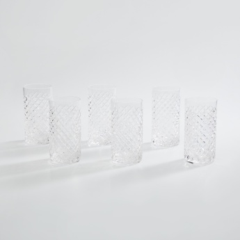 SOLITAIRE Cylinder Round Highball Glass-Set Of 6 Pcs