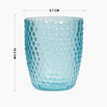 Hudson Embossed Glass Tumbler