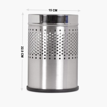 Derby Half Perforated Dustbin