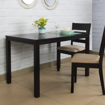 montoya dining table without chairs 4 seater brown compressed wood. Black Bedroom Furniture Sets. Home Design Ideas