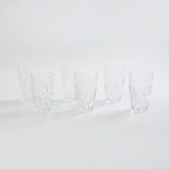 LYRA GLASSWARE Lyra Round Crystal Garden Hiball-Set Of 6 Pcs.