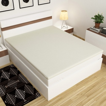 Marshmallow Exorbitant King-Size Solid Mattress Topper - 195 x 180 CM