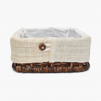 Norma Leaves Rectangular Bamboo Hamper