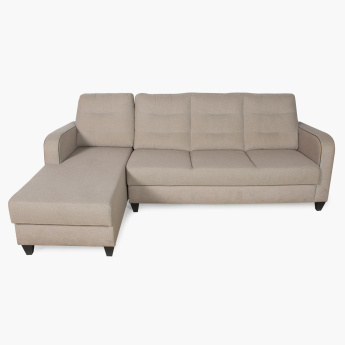 Montoya Corner Left Side Sofa Set Grey Polyester