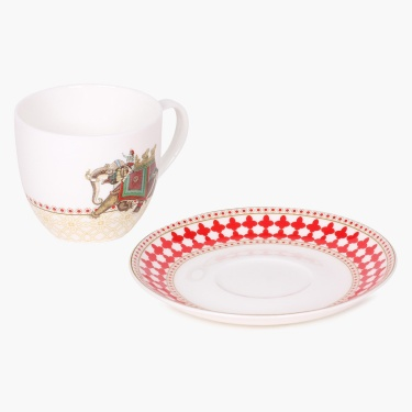 Nirvana Premium Bone China Cup And Saucer- Set Of 8