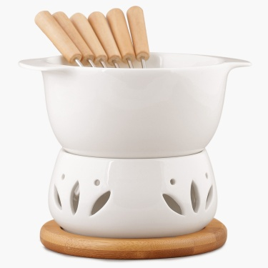Sagano Fondue Set With 6 Forks
