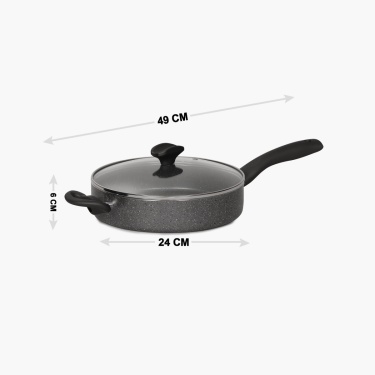 Marlin Non-stick Marble Coating Sauce Pan - 24 CM