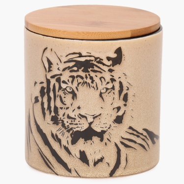 Imperial Tiger Canister With Lid