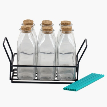 Peroni Glass Bottle Set- 7 Pc Set