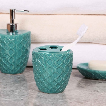 Hudson Embossed Tooth Brush Holder