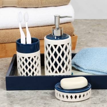 Addison Stencil Bathroom Set- 3 Pcs.