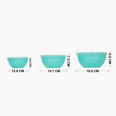 Berlin Microwave Bowl With Lid Set Of 3
