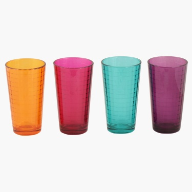 Kingston Windowpane Water Tumbler - Set Of 4