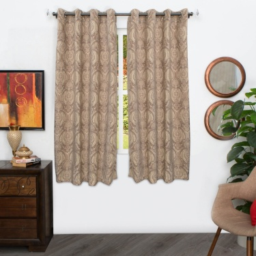 Matrix Vedanta Chenille Jacquard Window Curtain - 135 X 160 CM