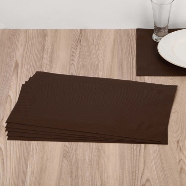 Eden Slate Woven Printed Placemat- Set Of 6