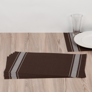Eden Stripe Woven Printed Placemat- Set Of 6