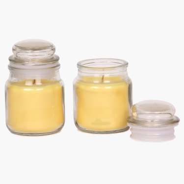 Redolance Scented Jar Candle- Set Of 2 - 10 CM