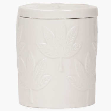 Redolance Maple Embossed Ceramic Jar Candle - 8 x 8 cm