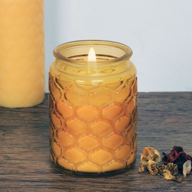 Redolance Embossed Glass Jar Candle - 14 CM
