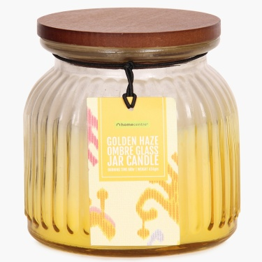 Redolance Golden Haze Ombre Glass Jar Candle - 10 CM