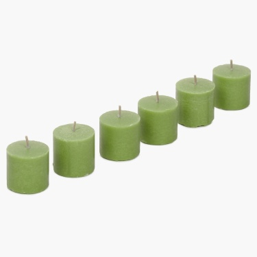 Redolance Forest Mist Scented Votive Candle- Set Of 6 - 5 CM