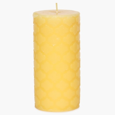 Redolance Embossed Pillar Candle - 16 CM