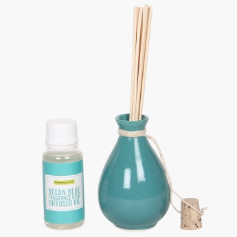 Serene Ocean Blue Fragrance Reed Diffuser Set - 60 ml