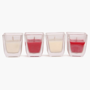 Serene Shot Glass Votive Candle- Set Of 4 - 6 CM