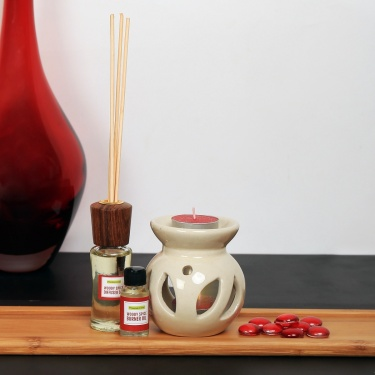 Serene Woody Spice Reed Diffuser And Burner Set
