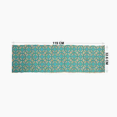 Topaz Straw Printed Runner