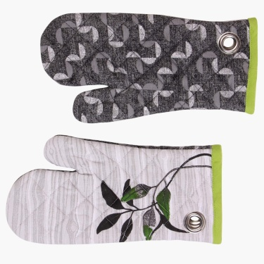 Forest Forever Printed Oven Mitten-Set Of 2