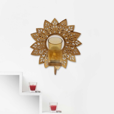 Majestic Lotus Wall Sconce
