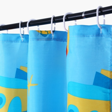 Adventures Of U-Tron Shower Curtain With 12 Hooks- Pack Of 13 Pcs.
