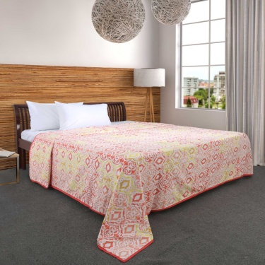 Mandarin Grenadine Ethnic Print Dohar- Double Bed
