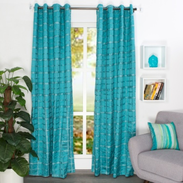 Matrix Imperial Jacquard Single Door Curtain-225 x 135 CM