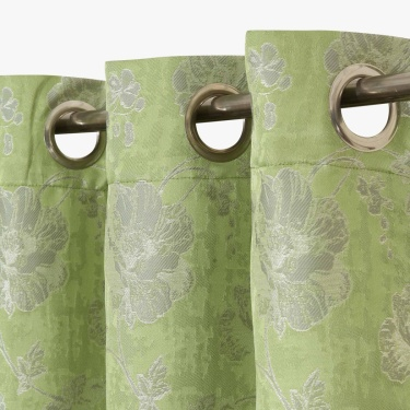 Matrix Floral Opaque Window Curtain-Set Of 2