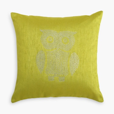 Gala Crystal Owl Cushion Cover- Set of 2 - 40 x 40 cm