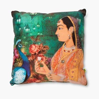 Aurora Mughal Print Filled Cushion - 30 X 30 CM
