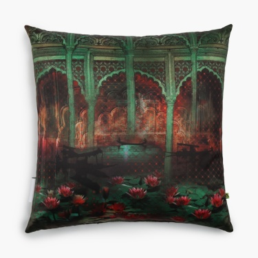Aurora Jalmahal Filled Cushion - 45 X 45 CM
